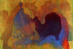 Flow Peace (acrylic and mediums on canvas)