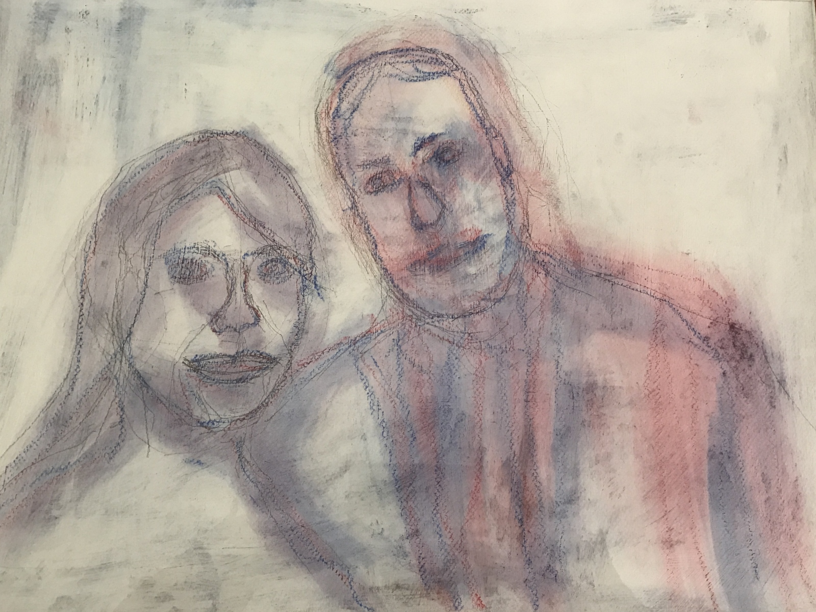 Wedding Portrait (acrylic, pastel and charcoal on canvas)