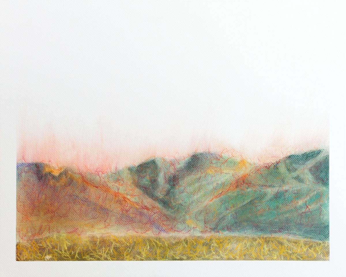 Perpetual Fire (pastel on pastel board)