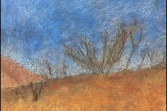 Near Lime Kiln Creek, Sylmar (pastel on paper)