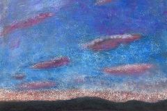 Twilight Over Lake Tahoe (pastel on pastel board)